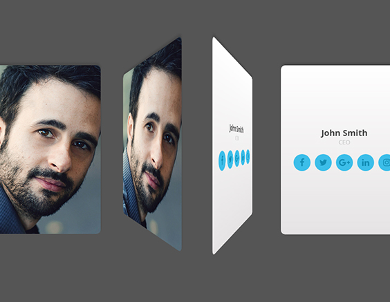 Animation cartes de profil CSS
