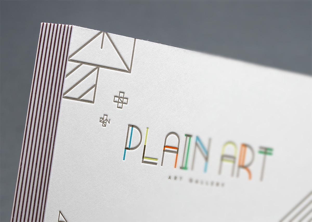 Carte de visite galerie d'art Plain Art Gallery