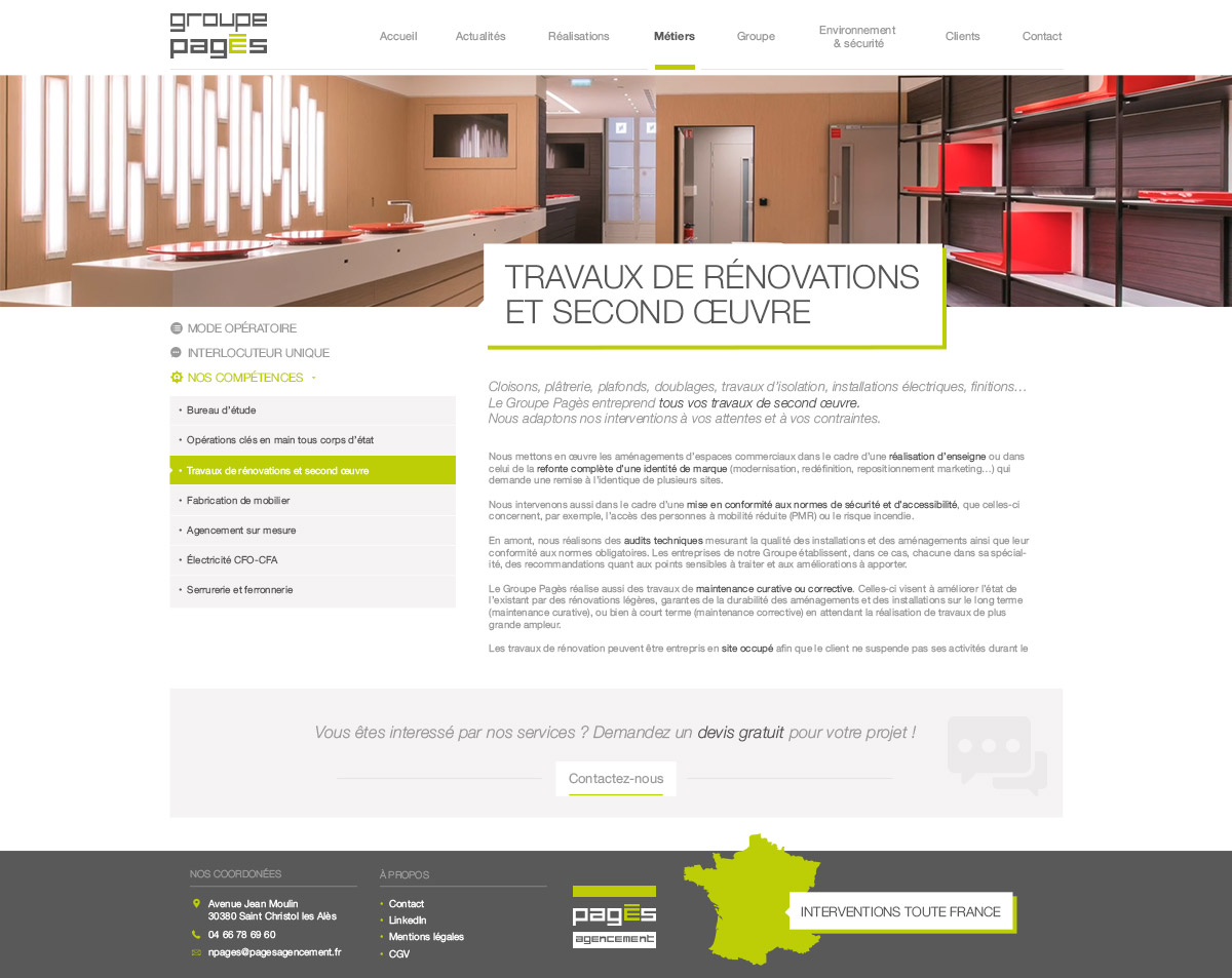Webdesign refonte Groupe pagès construction